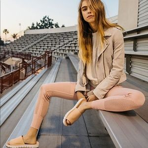 NWT Free People high-rise self-hem leggings